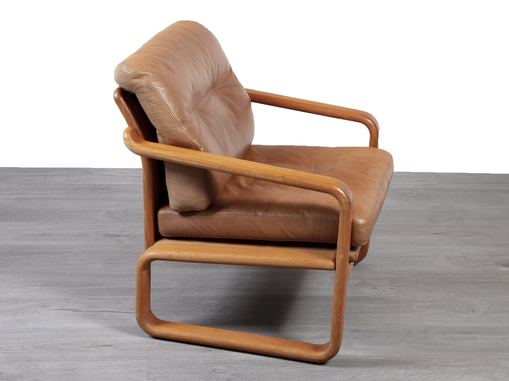 Image of: Danish Leather Armchair 20th Century Scandinavia