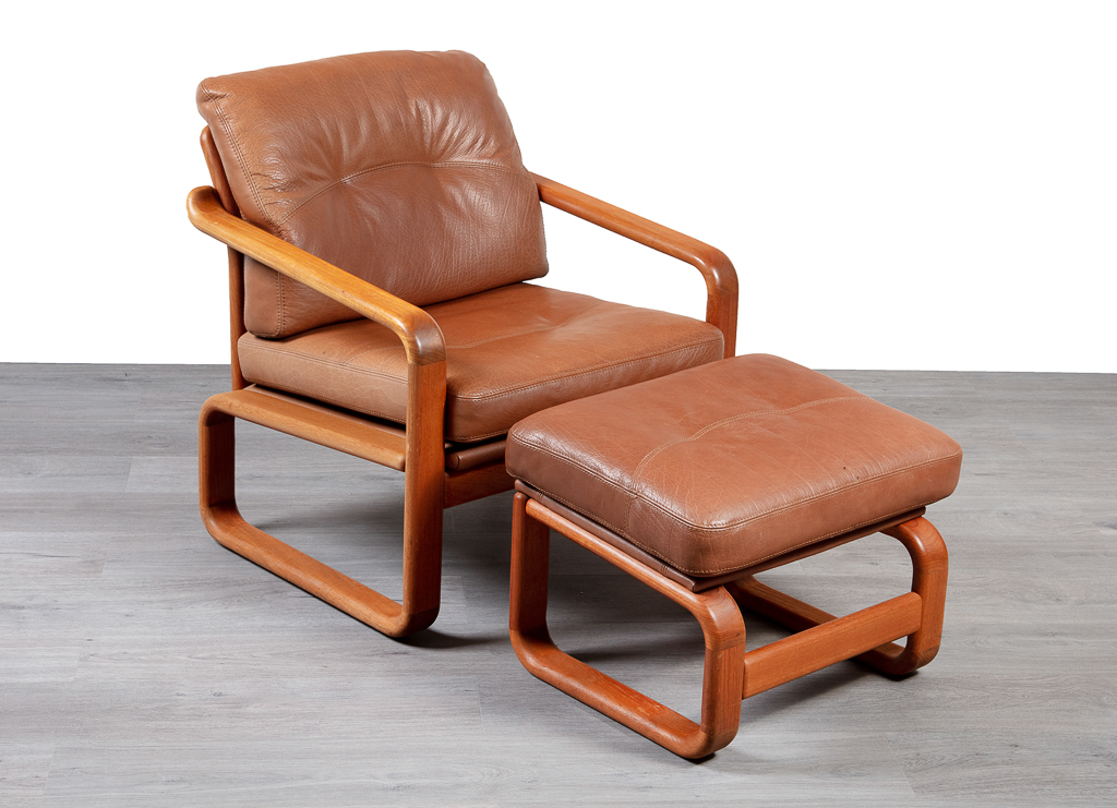 Enquiring about Danish Leather Armchair & Footstool