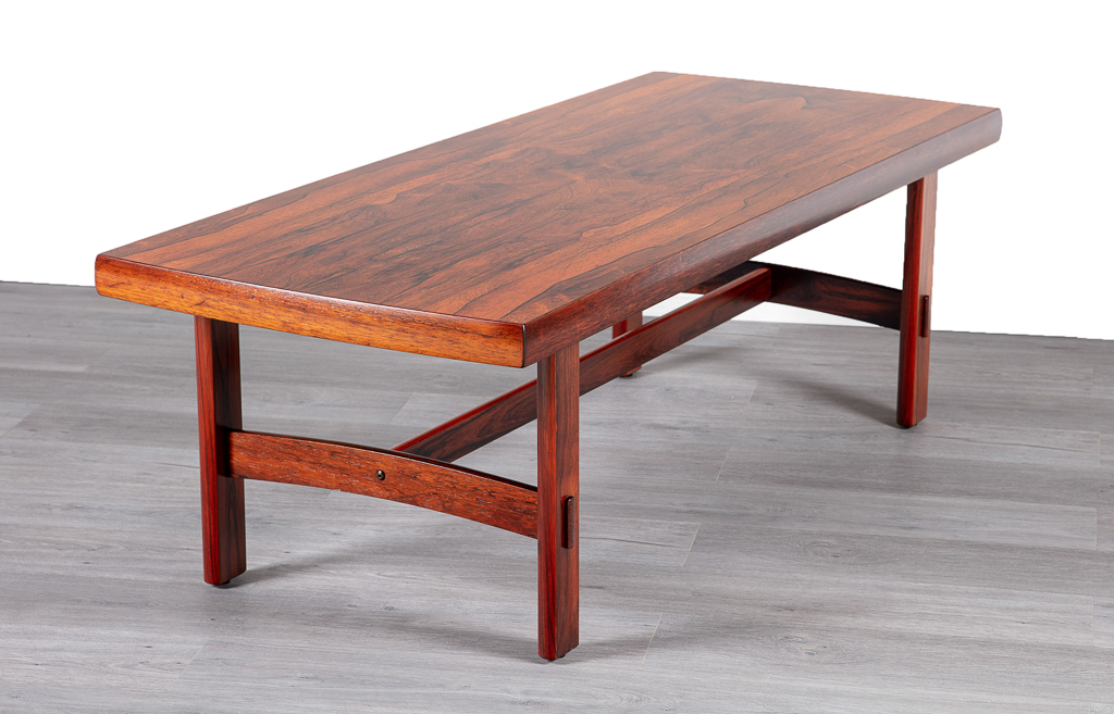 Danish 1960 S Brazilian Rosewood Coffee Table 20th Century Scandinavia