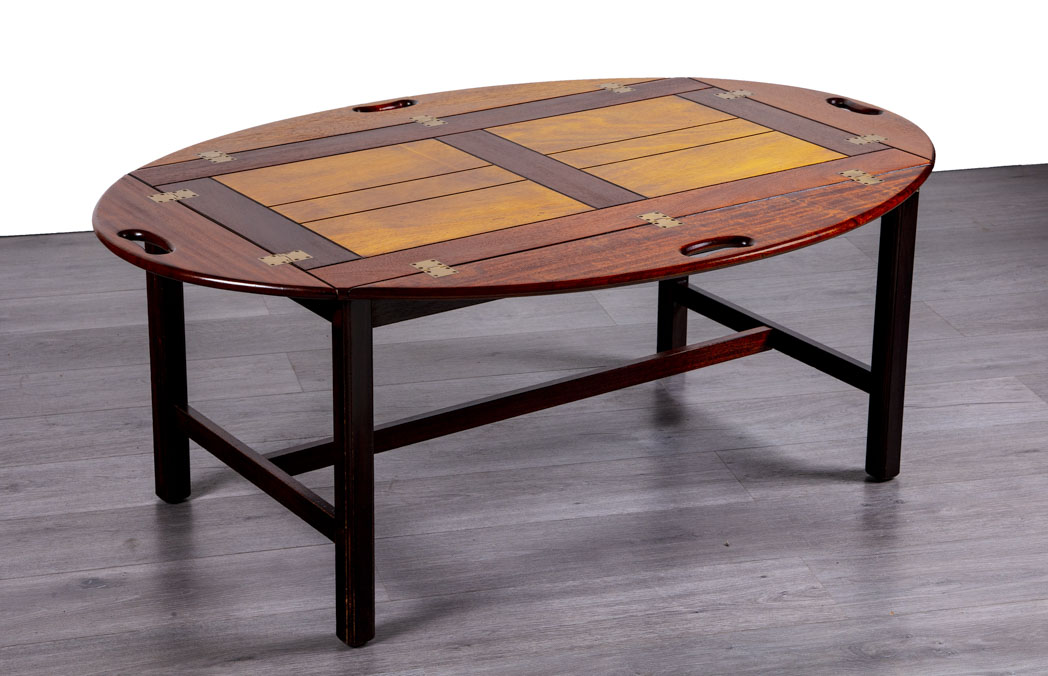 Enquiring about Danish 1960's Mahogany Butlers Tray Coffee Table