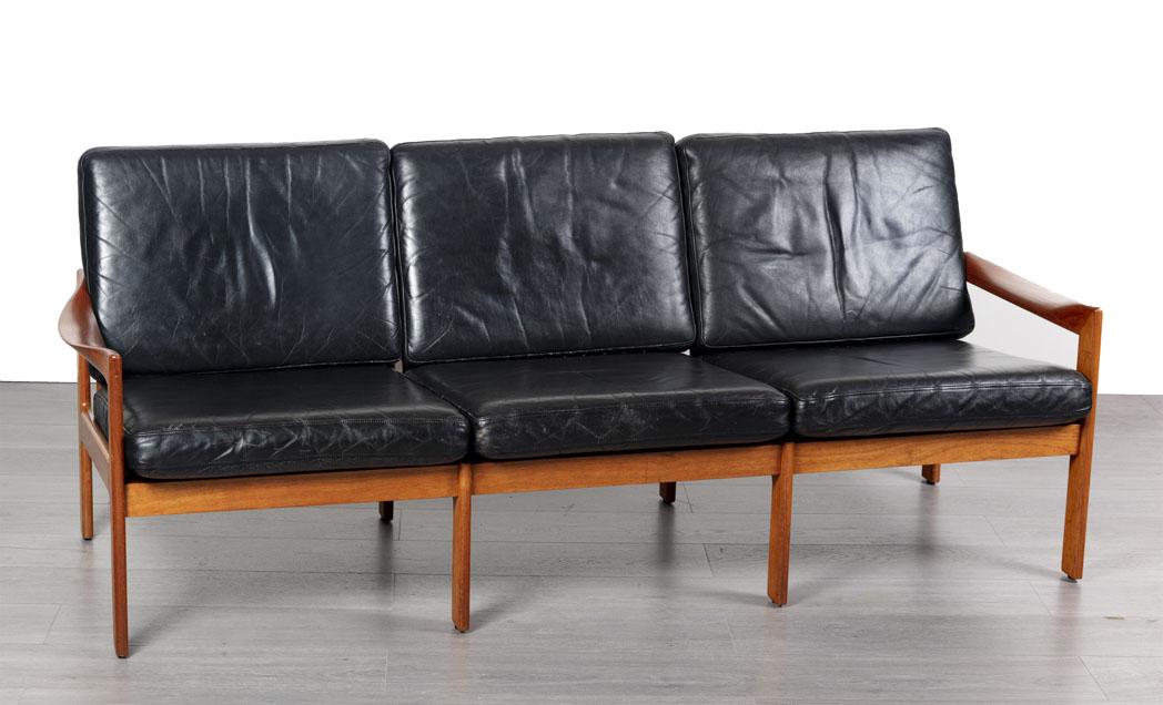 Enquiring about Danish 1960's Illum Wikkelso Designer Teak Sofa