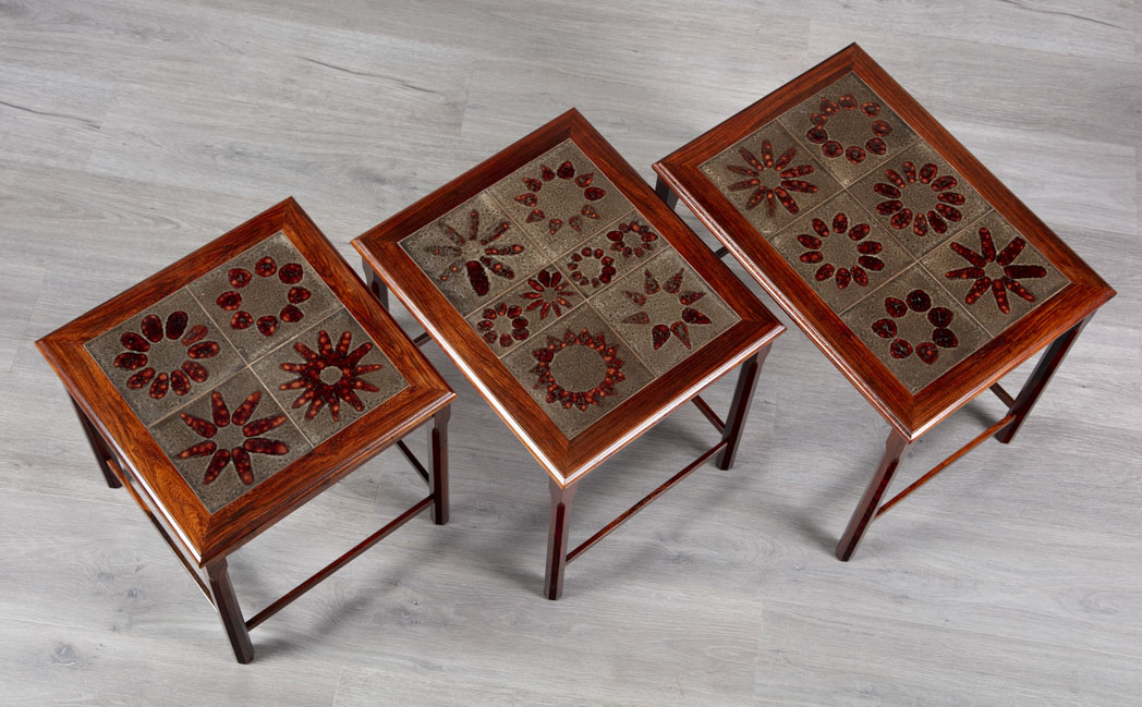 Enquiring about Danish 1960's Brazilian Rosewood Nesting Tables